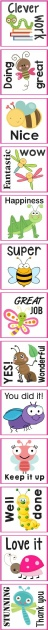 Design by Me - personalized teacher stickers - Teacher Stickers - Insects & worms Theme 1